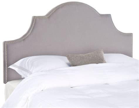 arctic upholstery hallmar arctic grey arched headboard silver nail head