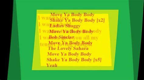 bob sinclar saharah ft shaggy i wanna lyrics shaggy ft bob sinclair and i wanna lyrics
