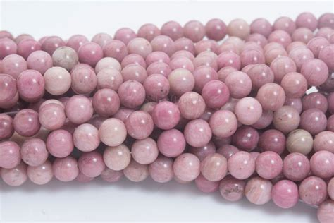 pink rhodonite gemstone pink by selectbeads