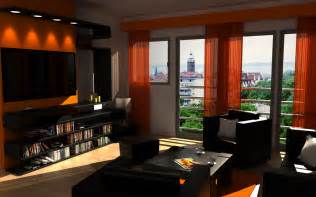 orange living room decor living room decor with orange and brown room decorating