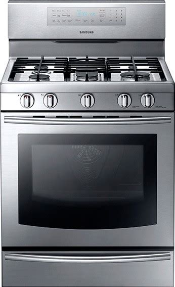 samsung gas range with warming drawer nx58f5700ws samsung 30 quot freestanding gas range warming