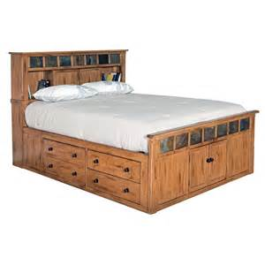 Oak Platform Bed With Storage Platform Beds