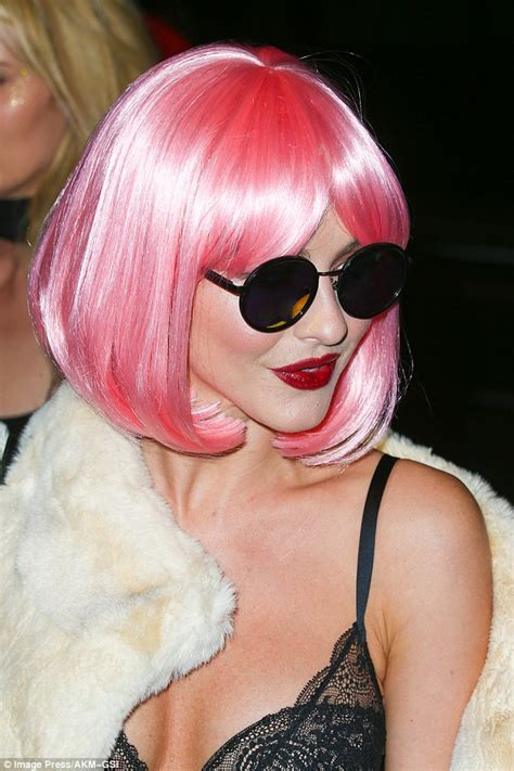 julianne hough pink wig julianne hough wears pink wig as she flashes her bra at