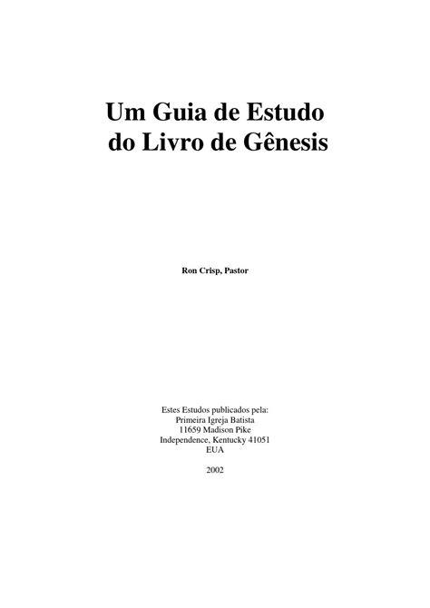 Um guia de estudo do livro de gênesis by AGNALDO - Issuu