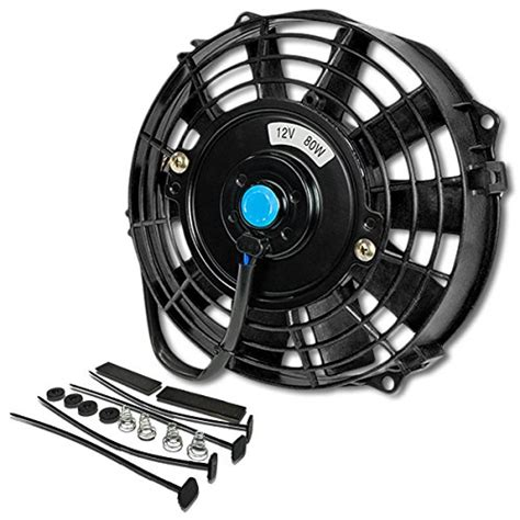 electric cooling fans automotive auto dynasty 7 inch high performance black electric