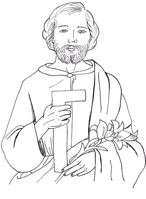 Coloring Pages And Joseph Saint Joseph Coloring Page Az Coloring Pages by Coloring Pages And Joseph