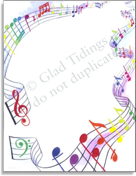 printable music stationery stationery notecards letterhead stationery papers