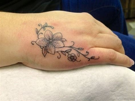 hand tattoos for girls 50 flower tattoos on
