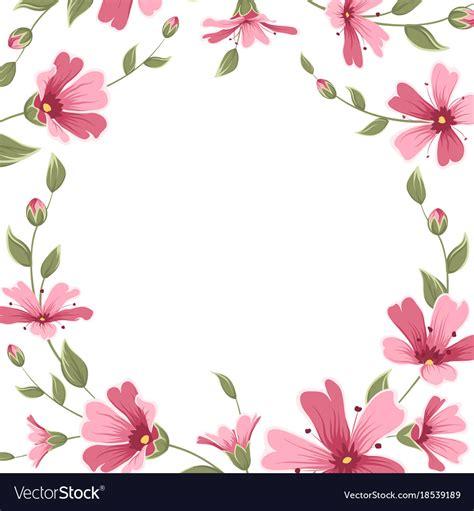 gypsophila babys breath flower border frame wreath