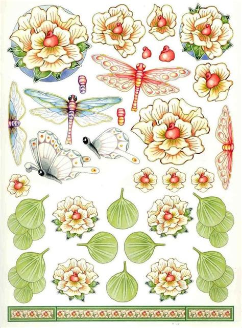 Decoupage Templates - 198 best images about 3d butterflies insects on