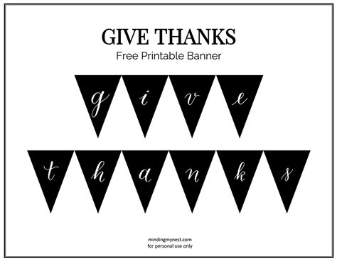 printable banner give thanks give thanks banner minding my nest