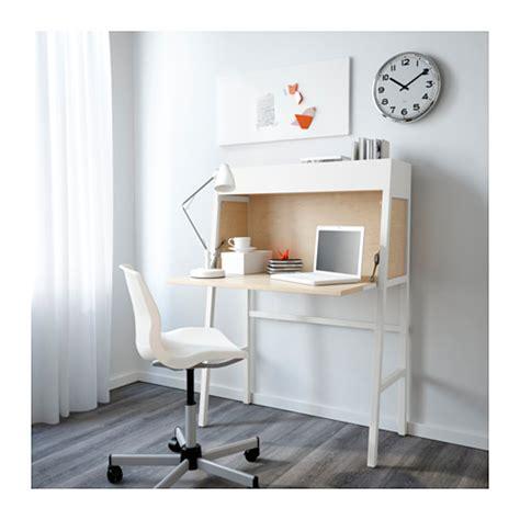 bureau suspendu ikea ikea ps 2014 bureau white birch veneer 90x127 cm ikea