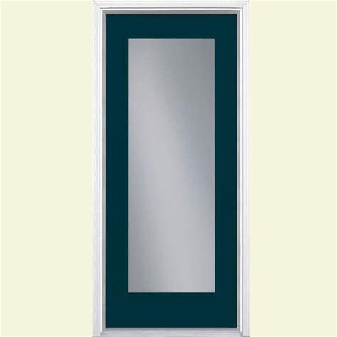 32 X 79 Exterior Door Masonite 32 In X 80 In Tide Lite Tide Painted Smooth Fiberglass Prehung Front