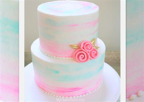 How to Make Watercolor Buttercream  A Cake Video   My Cake