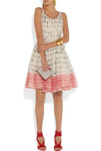 Silk Printed Silk Dress Intl redvalentino printed silk organza dress net a porter