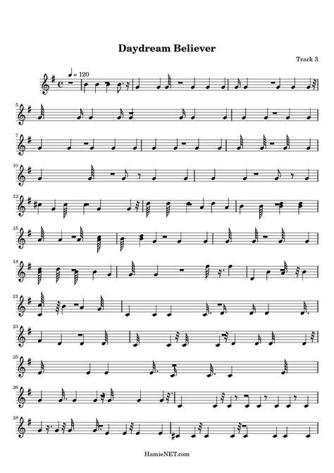 Daydream Believer Sheet Music - Daydream Believer Score