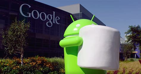google android official android marshmallow statue unveiling video