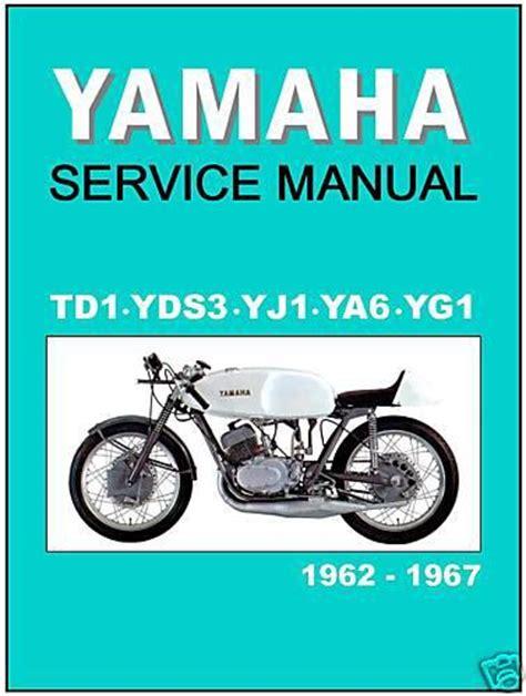 find yamaha workshop racing manual td1 td1a td1b yg1 yj1