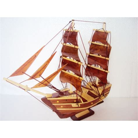 Handmade Boats - handmade wood model ship 11 8 handmade sail boat