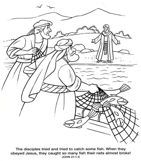 coloring page of fishing net fishing net clipart bible story pencil and in color