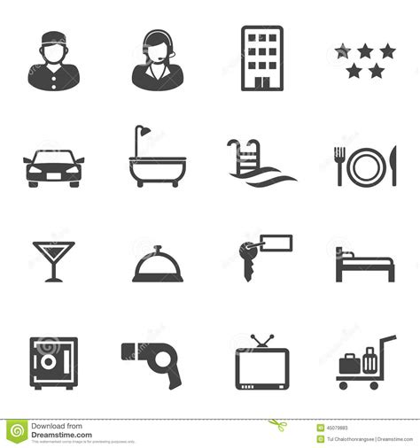 2 Car Garage Design hotel and resort service icons stock vector image 45079883