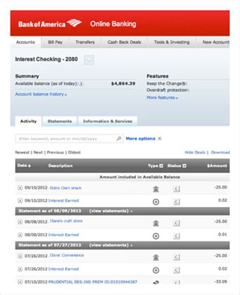 us bank check account balance bank account management with bank of america
