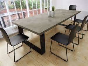concrete dining room table best 25 concrete dining table ideas on