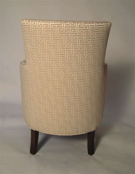 Small Club Chairs Upholstered Stylish Small Curved Upholstered Slipper Chair At 1stdibs