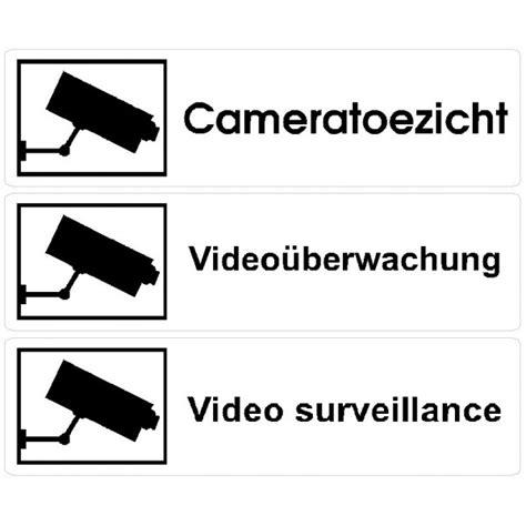Sticker Camerabewaking Bestellen by Camerabewaking Stickers L Toezichtstickers Label Co
