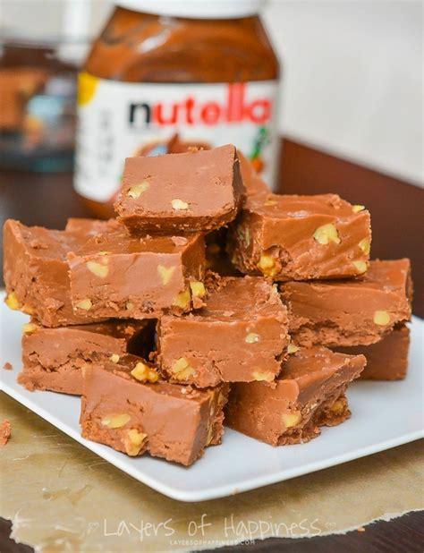 Microwave Fudai 5 minute microwave nutella fudge layers of happiness
