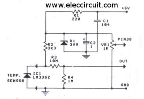 digital temperature sensor circuit diagram digital temperature meter using lm335 or lm135