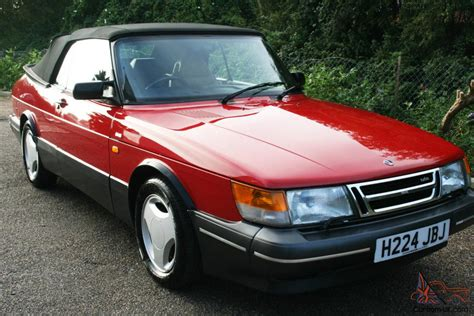 saab convertible red saab 900 turbo 16v convertible auto
