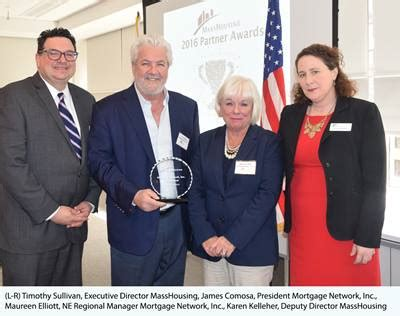 mass housing mortgage calculator mortgage network honored by masshousing for commitment to affordable financing