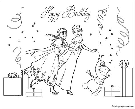 frozen coloring pages pdf frozen cast skating coloring page free coloring