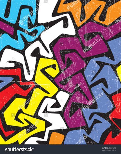 abstract graffiti pattern abstract colored graffiti pattern stock vector 80679217