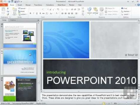 Powerpoint 2010 Tutorial Using Powerpoint Templates Youtube Powerpoint Microsoft Templates