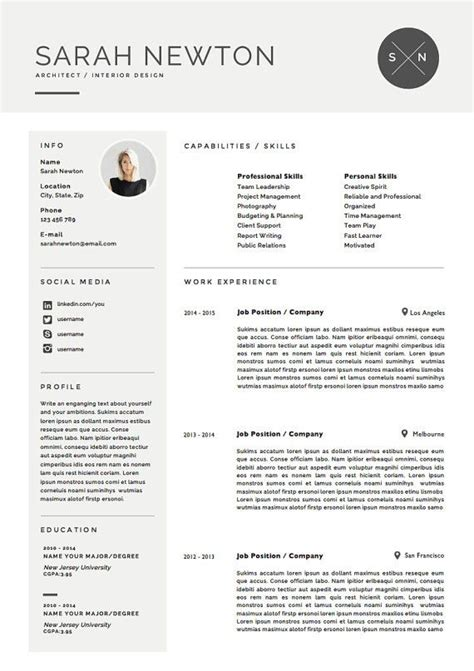 Resume Template 3 Page Moonlight by M 225 S De 25 Ideas Incre 237 Bles Sobre Curriculum Vitae Para