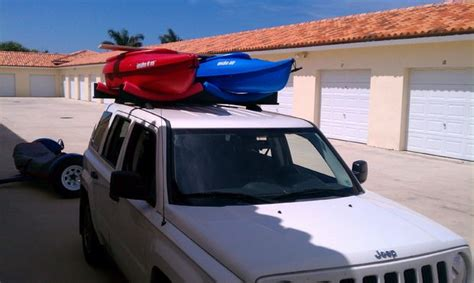 car top 2 kayak rack roof rack cars only about 30 bucks