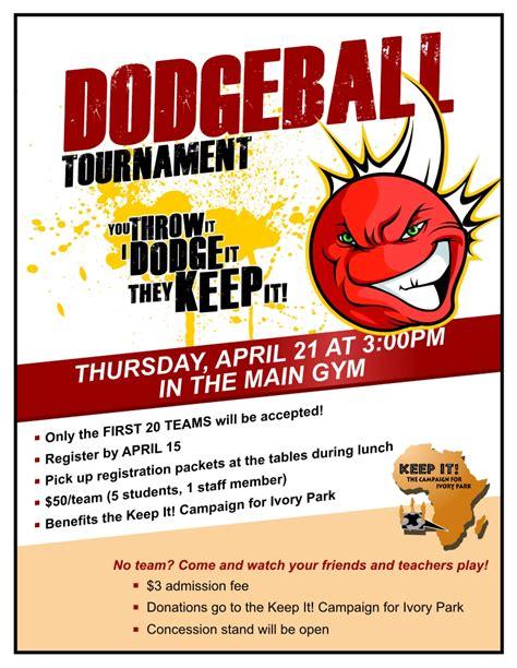 Dodgeball Tournament Flyer Template dodgeball tournament publicity tools