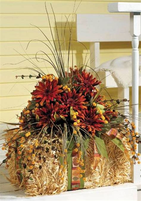 diy fall spruce up of your front door with color diy diy fall floral arrangement spruce up your front porch
