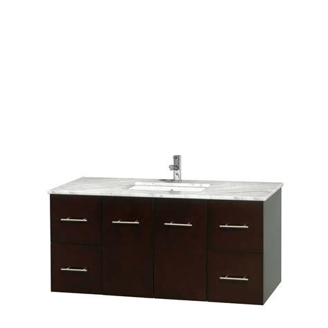 48 inch bathroom vanity white wyndham collection wcvw00948sescmunsmxx centra 48 inch single bathroom vanity in espresso white