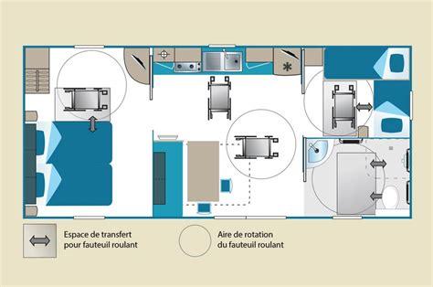 Location mobil home Landes PMR : louer mobilhome PMR Seignosse Mobil home 2 chambres PMR 4