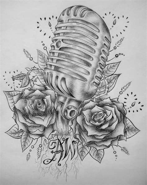 old school microphone tattoo designs school microphone design by madeline cornish