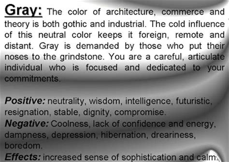 what does the color gray meaning of colors psychology of color personality