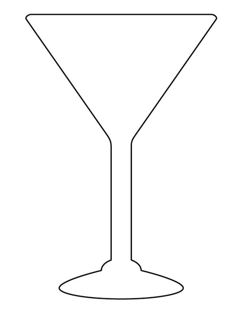 printable glass stencils martini glass pattern use the printable outline for