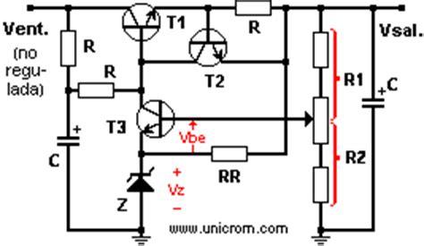 bipolar transistor zener regulador de voltaje con diodo zener y transistor de paso electr 243 nica unicrom
