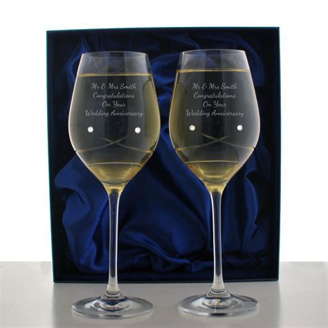 Personalised Crystal Wine Glasses