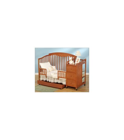 Changing Pad For Crib Changer Combo by Simplicity Crib N Changer Combo In Pecan Finish