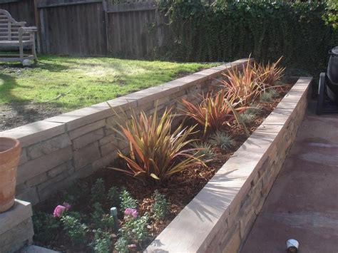 brick planter wall outdoor ideas pinterest