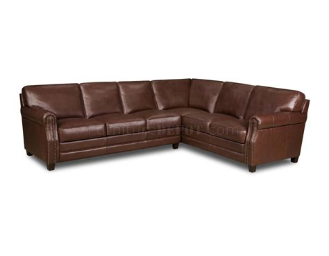 top grain leather sectional sofas cocoa brown top grain italian leather traditional